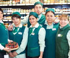Продавец кассир в супермаркет продукты