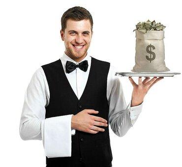 Требуется официант в ресторан премиум класса