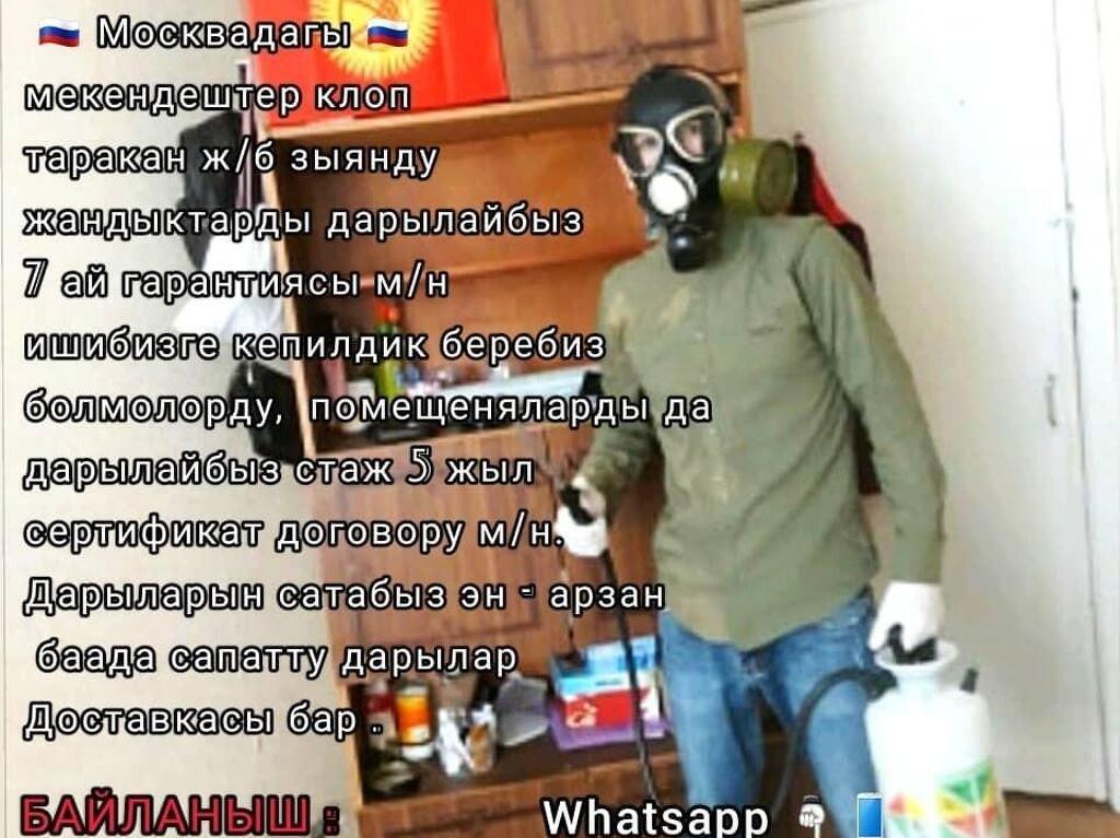 ДЕЗИНФЕКЦИЯ КЛОП ТАРАКАН ДАРЫЛАЙБЫЗ ДАРЫ ОЗУ САТЫЛАТ - 1
